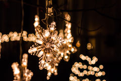 Snowflake Lights Royalty Free Stock Images