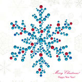 Snowflake made of beads Stock Images