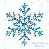 Snowflake made of beads Stock Photography