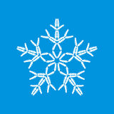 Snowflake made of cars Stock Image