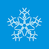 Snowflake made of cars. On the blue background Vector Illustration
