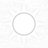 Snowflake made of Christmas trees on white grunge background stock illustration