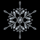 Snowflake made from diamonds Stock Photography
