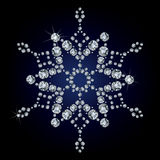 Snowflake made from diamonds Stock Images