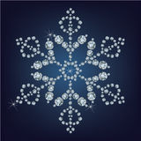 Snowflake made from diamonds. Royalty Free Stock Images