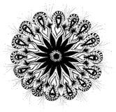 Snowflake Mandala σχέδιο ευγενές Στοκ φωτογραφίες με δικαίωμα ελεύθερης χρήσης