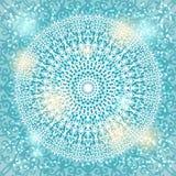 Snowflake Mandala υπόβαθρο Στοκ φωτογραφίες με δικαίωμα ελεύθερης χρήσης