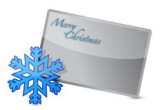 Snowflake merry christmas banner illustration Stock Photos