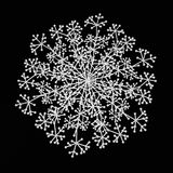 Snowflake, Molecule Links. Isolated white 3d icy link fragment snowflake Stock Images