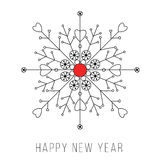 Snowflake new year card design. Snowflake new year card illustration design stock illustration