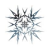 snowflake No fundo branco ilustração stock