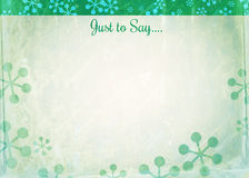 Snowflake Note Paper Royalty Free Stock Images