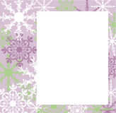 Snowflake notecard Stock Photo