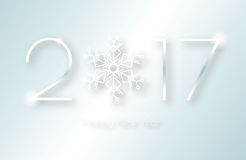 2017 snowflake number Stock Photos