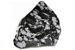 Snowflake obsidian Στοκ Εικόνες