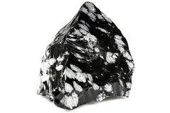 Snowflake obsidian Στοκ Φωτογραφία