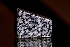 Snowflake obsidian, gemstone for stone healing. In a closeup Stock Photography