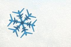 Snowflake On A Frozen Window Royalty Free Stock Photos