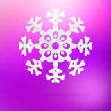 Snowflake origami on purple pink. + EPS8 Royalty Free Stock Photos