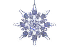 Snowflake Ornament. Crystal Snowflake ornament hanging on background Stock Images