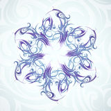 Snowflake ornament Royalty Free Stock Image