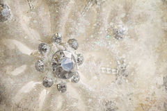 Snowflake ornament with winter background Stock Image