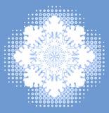 Snowflake over halftone Stock Photo
