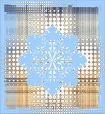 Snowflake over halftone Stock Photos