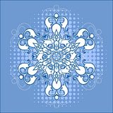 Snowflake over halftone Royalty Free Stock Photos