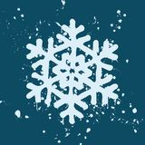 Snowflake Paint With Ink Splash Stock Photo