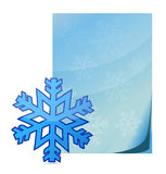 Snowflake and paper Royalty Free Stock Photo