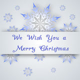 Snowflake on a paper background Royalty Free Stock Images