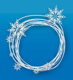 Snowflake on a paper background Stock Photos