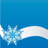 Snowflake on a paper background Stock Photography
