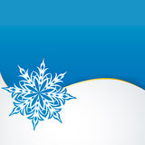Snowflake on a paper background Royalty Free Stock Photos