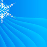 Snowflake on a paper background Royalty Free Stock Photography