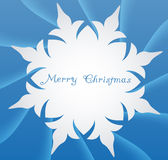Snowflake on a paper background Stock Photo