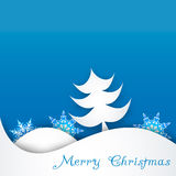 Snowflake on a paper background Royalty Free Stock Image
