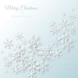 Snowflake paper cut Royalty Free Stock Images