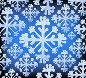 Snowflake pattern. Abstract background with snowflake pattern stock illustration