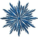 Snowflake pattern. Festival snowflake pattern on white Royalty Free Stock Images