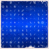 Snowflake pattern on aged card Royalty Free Stock Image