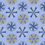 Snowflake pattern background Stock Image