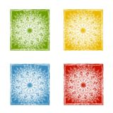 Snowflake Pattern  Backgrounds Stock Photo