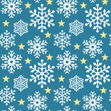 Snowflake Pattern_Blue Stock Image