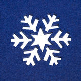 Snowflake Pattern Cut Out From Fluffy Blue Felt Royalty Free Stock Photography