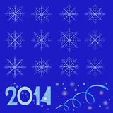 Snowflake 2014 Stock Images