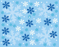 Snowflake pattern. Illustration of a snowflake pattern Stock Photography