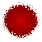 Snowflake Pattern on Red Stock Photos