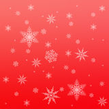 Snowflake pattern on red Royalty Free Stock Photo